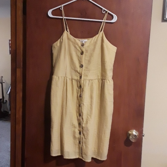 Maurices Dresses & Skirts - Golden Button Down Dress
